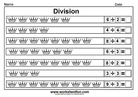 Worksheets Division by Division
