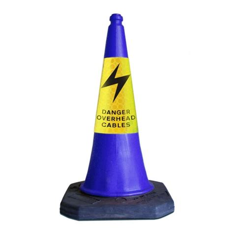 Traffic Cone Karet Safe Line 750mm danger overhead cables road cone manchester safety