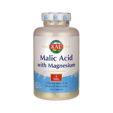 Malic Acid Brain Detox by Malic Acid With Magnesium 120 Tabs