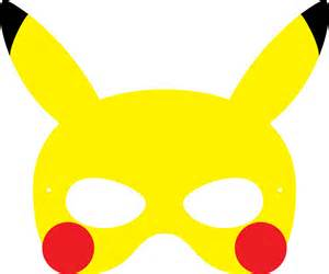 pikachu template printable masks images images