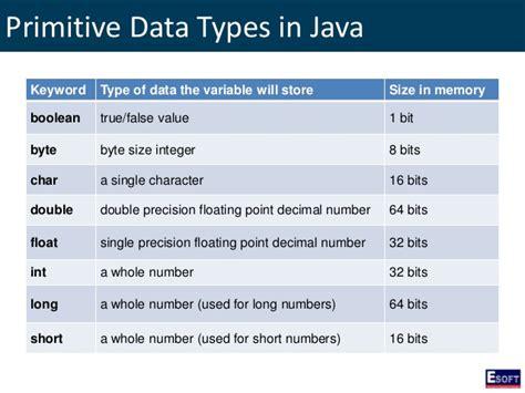 primitive data types numbers strings ordinal types esoft metro cus certificate in java basics