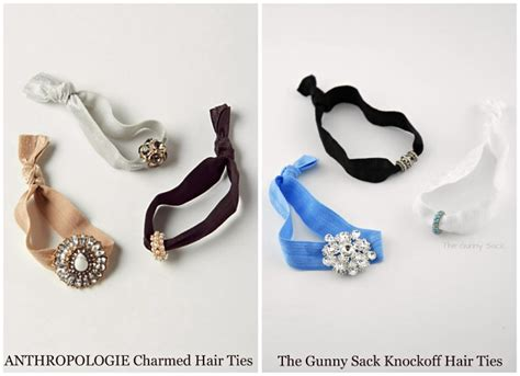 diy anthropologie multitude hair ties tutorial from love u anthropologie knockoff charmed hair ties the gunny sack