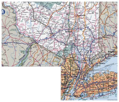 map of new york city and surrounding areas large detailed roads and highways map of new york city and