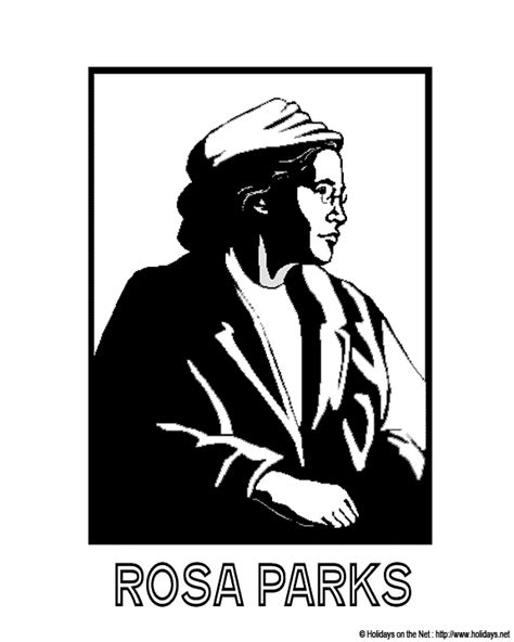 rosa parks coloring pages