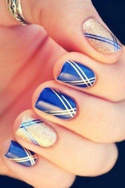 gold nail design me my nails i blue and gold nail art beauty and fashion