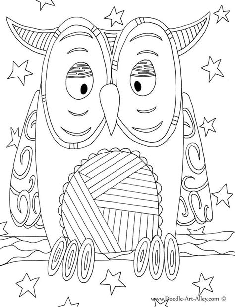 Doodle Alley Coloring Pages bird coloring pages doodle alley owl classroom