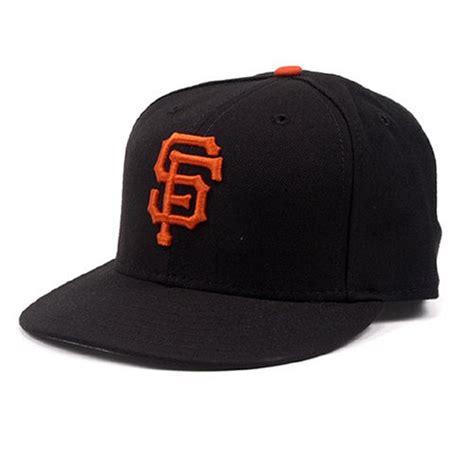 san francisco giants new era fitted baseball hat black