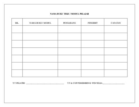 format buku log lencana kemahiran format buku persediaan mengajar 1