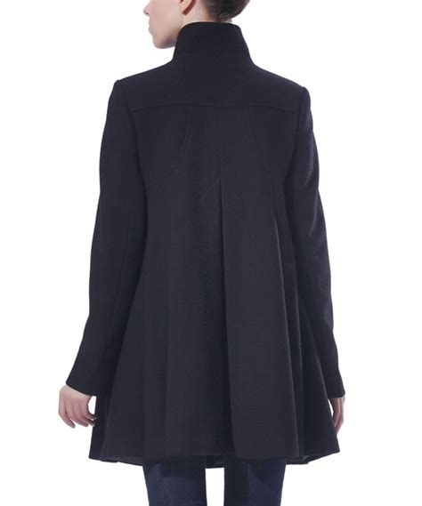 wool swing coat momo maternity black wool blend maternity swing coat zulily