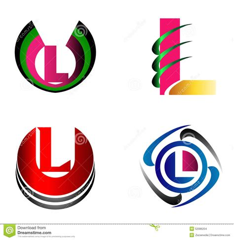 graphic design icons stock vector image of icon design letter l logo icons set vector graphic design stock vector