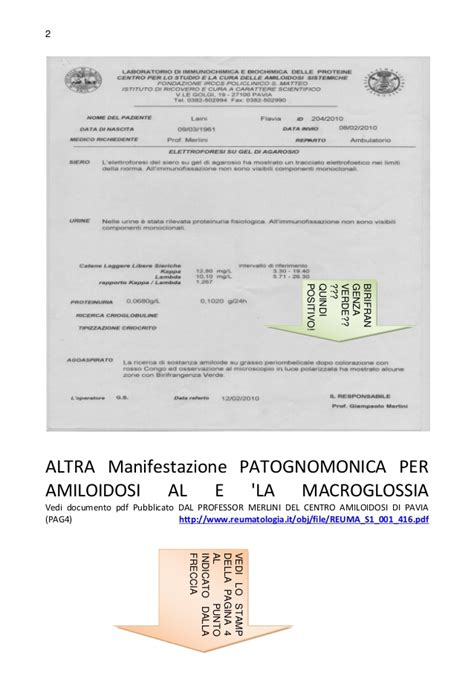amiloidosi pavia amiloidosi manifestazioni patognomoniche laini flavia