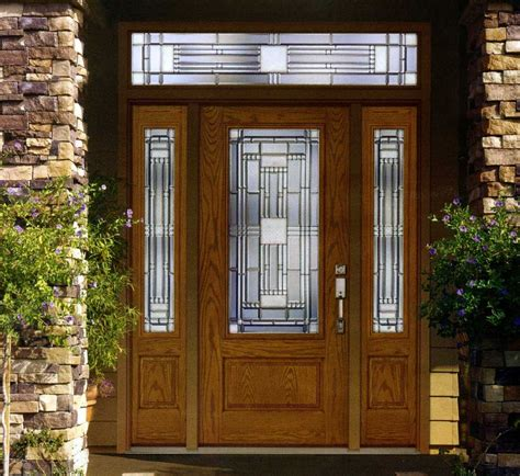 Front Doors With Sidelights And Transom Image Of Modern Fiberglass Front Entry Doors With Sidelights