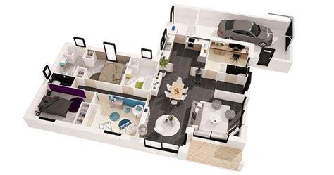 Plan Maison Simple 3 Chambres 3d by Plan Maison 3 Chambres 3d