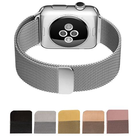 New Apple Hoco Milanese Loop Silver 1 new milanese loop for apple band 42mm 38mm silver link bracelet stainless