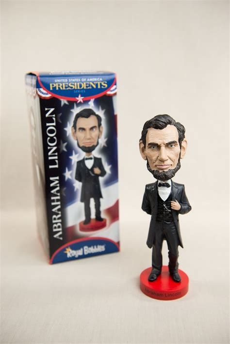 union j bobbleheads abraham lincoln bobblehead the store at lbj
