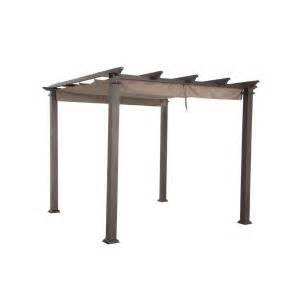 Lowes Awnings Canopies Hampton Bay 9 1 2 Ft X 9 1 2 Ft Steel Pergola With