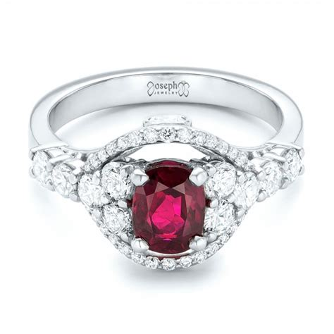 custom ruby and engagement ring 102900