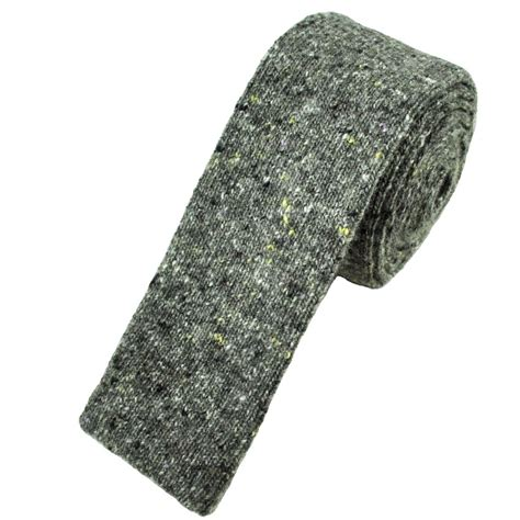 profuomo grey wool blend designer knitted tie