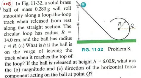 section 280g in fig 11 32 a solid brass ball of mass 0 280g w