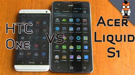 V Smartphone S1 by Acer Liquid S1 Vs Htc One Smartphone Comparison At