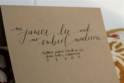 Wedding Invitations Calligraphy by Calligraphy Ersandity