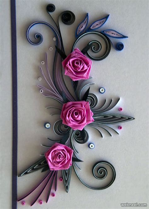 Bicycle Decorations Home 25 beautiful quilling flower designs and paper quilling cards