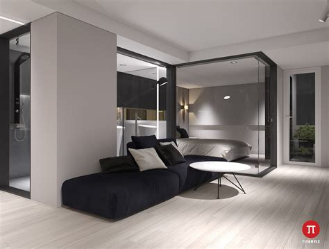 bedroom cubicles 3 minimalist monochromatic homes with modern lighting
