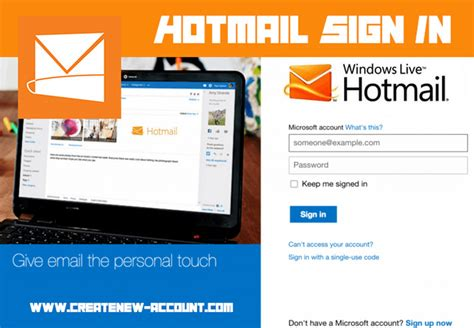 hotmail sign up mobile phone hotmail sign in create new account