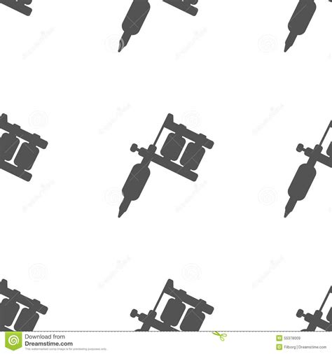 tattoo machine vector download tattoo machine pattern stock vector image 55378009