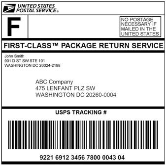 Dmm 505 Return Services Merchandise Return Label Template
