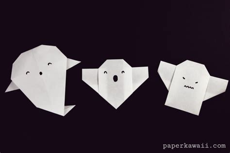 Origami Ghost - easy origami ghost tutorial for paper kawaii