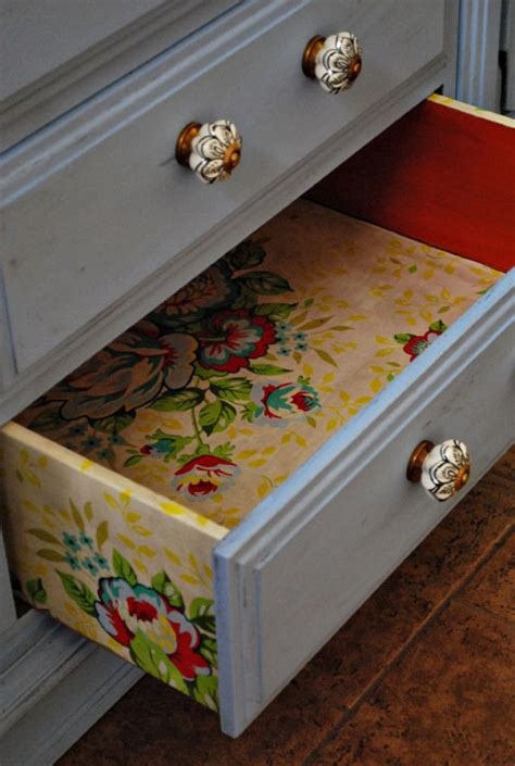 Decoupage Dresser With Fabric - dishfunctional designs upcycled dressers painted