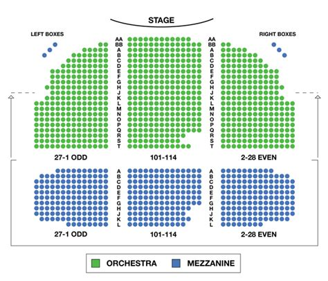 the broad stage seating chart broadhurst theatre broadway seating charts broadwayworld