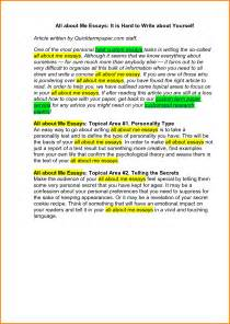 How To Write A Essay About Yourself by How To Start An Autobiography Essay