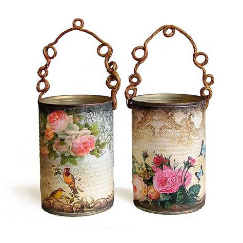 Decoupage Tins - 401 best decoupage images on decorated bottles