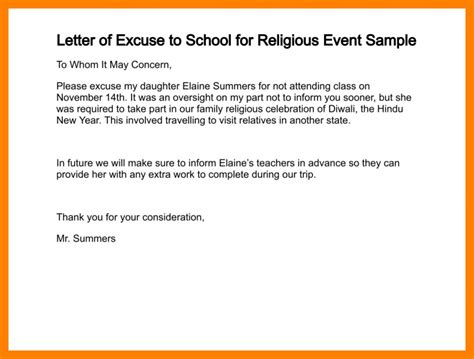 Excuse Letter For New Year 8 Excuse Letter For Absence In School Fancy Resume