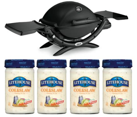 Weber Grill Sweepstakes 2016 - win weber grill year supply of dressing
