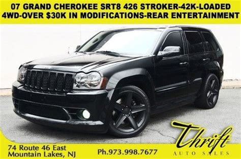 07 Jeep Grand Srt8 Purchase Used 07 Grand Srt8 426 Stroker 42k 4wd