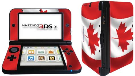 nintendo 3ds xl skin template flag canada nintendo 3ds xl ll skins vinyl flags designs