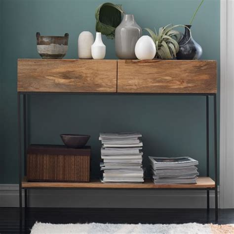 industrial sofa table with storage industrial console table with storage www pixshark