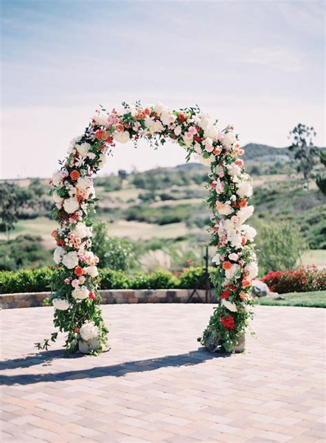 Wedding Arch Floral by Wedding Wednesday On Trend Floral Arches Flowerona