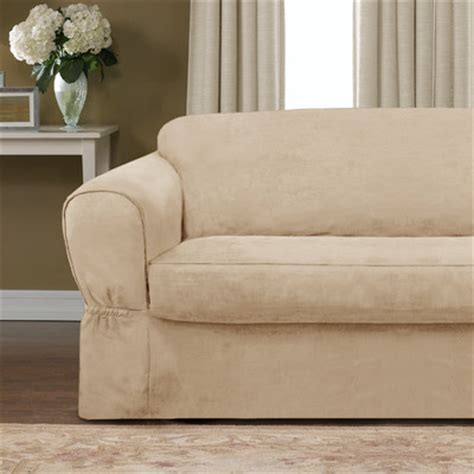 wayfair sofa slipcovers piped suede separate seat sofa slipcover wayfair