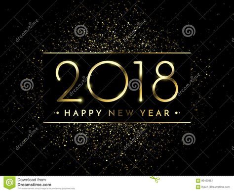 new year 2018 period vector 2018 new year black background with gold glitter