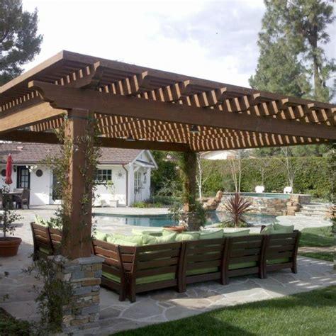 Backyard Overhang Garten Designideen Pergola Holz Aequivalere
