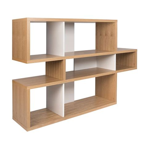 Temahome London Modern Oak White Bookcase Eurway White Oak Bookcase