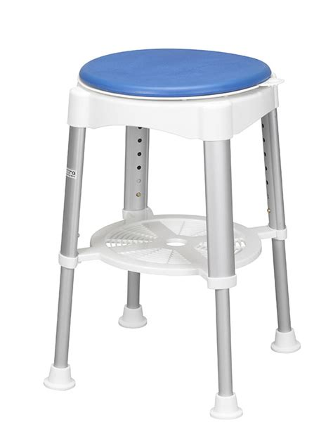 bariatric shower stool with rotating seat