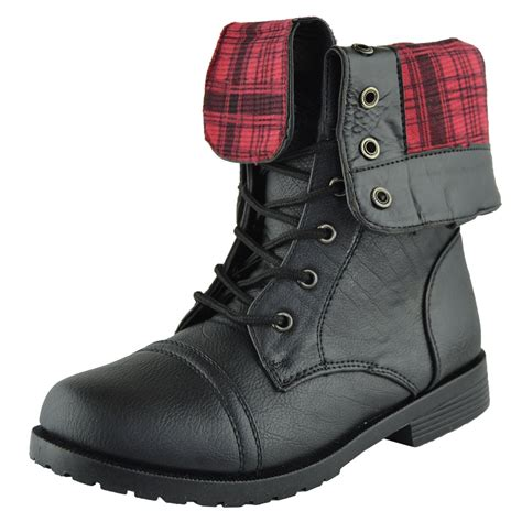 toddler combat boots s toddler youth fold cuff lace up mid calf ankle
