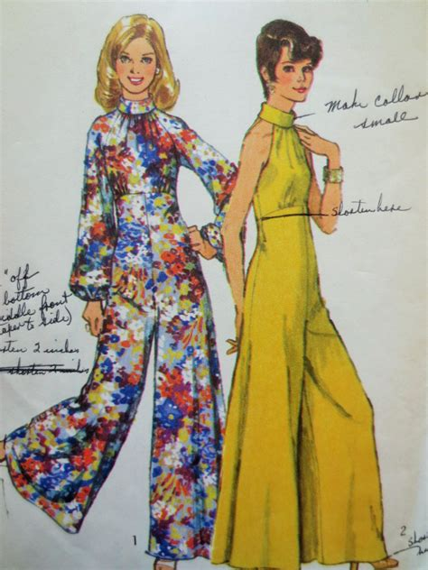 vintage jumpsuit pattern vintage simplicity 5570 sewing pattern 1970s jumpsuit