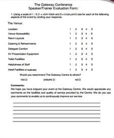 guest speaker template sle speaker evaluation form 10 exles in word pdf