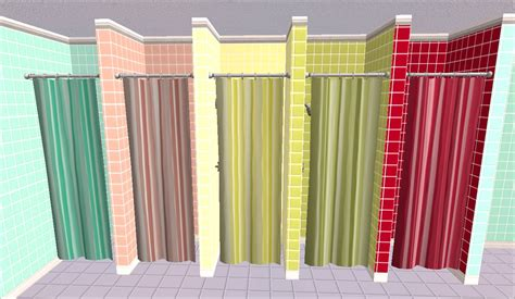 mod shower curtain mod the sims spots and stripes shower curtains